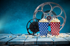 Old style movie reels, close-up. Royalty Free Stock Photography