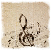 Old Style Music Background Stock Images