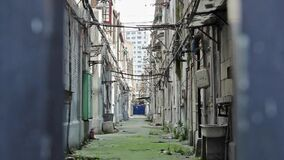 20.04.2020- Old style neighborhood in Shanghai prepared to demolish