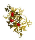Old style ornaments. Style background with green ornaments Royalty Free Stock Image