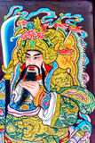 Old style painting of Chinese God, Chinatown Bangkok Thailand. Royalty Free Stock Images
