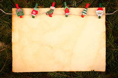 Old style paper with Christmas ornaments Royalty Free Stock Image