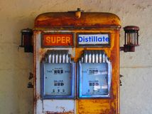 Old Style Petrol Pump Royalty Free Stock Photography