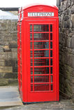 Old Style Phone Booth in Edinburgh Castle Stock Photography