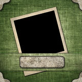 Old-style photo on the background of linen. Image Old-style photo on the background of linen Royalty Free Stock Photo
