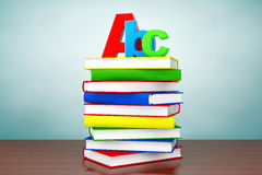 Old Style Photo. Books with ABC sign Royalty Free Stock Image