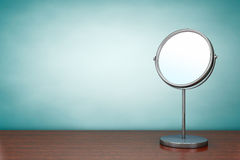 Old Style Photo. Chrome Makeup Mirror Stock Photography