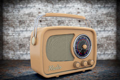 Old Style Photo. Closeup Vintage Radio Royalty Free Stock Images