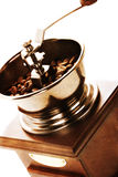Old style photo of coffee mill Stock Photos