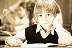 Old style photo from elementary age royalty free stock photo