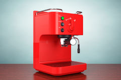 Old Style Photo. Espresso Coffee Making Machine Stock Photography