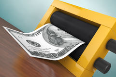 Old Style Photo. Magic Press for Making Money. 3d Rendering Royalty Free Stock Photo