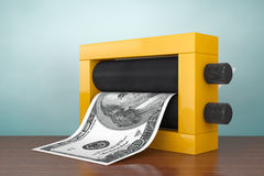 Old Style Photo. Magic Press for Making Money. 3d Rendering Royalty Free Stock Image