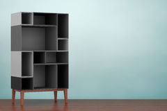 Old Style Photo. Modern Abstract Shelf. 3d rendering Royalty Free Stock Photos