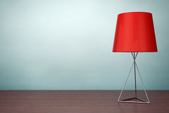 Old Style Photo. Modern Fashion Table Lamp. 3d rendering Stock Image