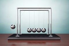 Old Style Photo. Perpetual Motion Spheres of Newton Royalty Free Stock Photos