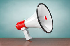 Old Style Photo. Retro Megaphone. 3d Rendering Royalty Free Stock Photography