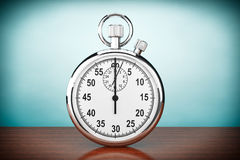 Old Style Photo. Silver Stopwatch Stock Images