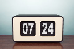 Old Style Photo. Vintage Flip Clock Royalty Free Stock Photography