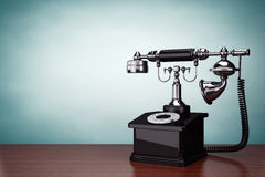 Old Style Photo. Vintage Telephone royalty free stock image