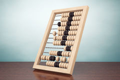 Old Style Photo. Vintage wooden abacus Royalty Free Stock Photos