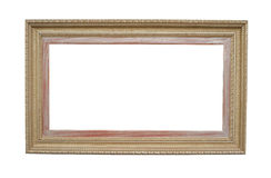 Old style picture frame. Isolated on white background Stock Photography