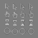Old style pixel computer cursors Stock Image