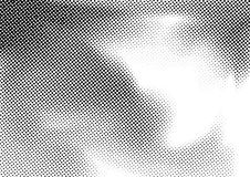Old style pop art halftone dotted distressed background template. Black and white graphic comic page texture vintage template. Vector illustration stock illustration
