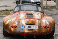 Old style Porsche car. In the midlle of Bucharest, capital of Romania Stock Images
