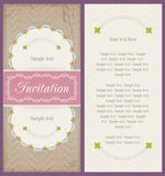 Old style portrait design for invitation card Royalty Free Stock Photography