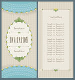 Old style portrait design for invitation card Stock Photography