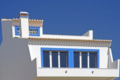Old style portuguese house. Against a blue sky Stock Photography