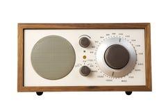 Old Style Radio. Isolated on white background royalty free stock photos