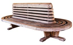 Old style railway station wood chair Royalty Free Stock Photos
