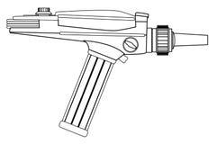 Ray Gun Line Drawing Royalty Free Stock Photo