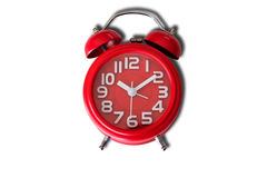 Old style red alarm clock Royalty Free Stock Image