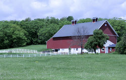Old style red barn Royalty Free Stock Images