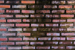 Old style red brick wall Stock Photo