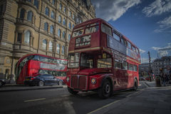 Old Style Red Bus Stock Photography