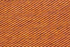 Old style red tile roof Stock Images