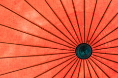 Old style red umbrellas Royalty Free Stock Image