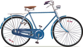 Old Style Retro Bicycle. The old blue classic bicycle. This is the great example of an old retro bikes. Editable vector EPS v. 10 vector illustration
