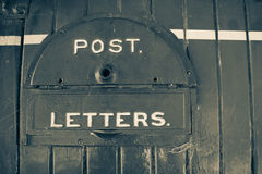 Old style retro image of letterbox Stock Photography