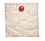 Old-Style Retro Note With Red Clip Royalty Free Stock Photography