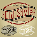 Old Style Retro Styled Seal / Label Stock Photo