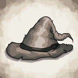 Old style retro Wizard Hat Royalty Free Stock Images