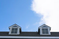 Old style roof of house. Royalty Free Stock Photography