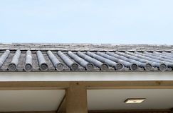 Old style roof of Japan. Temple roof, Japan style Royalty Free Stock Images