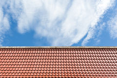 Old style roof top Stock Images