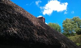 Old style roof. Old village in ireland Stock Photo